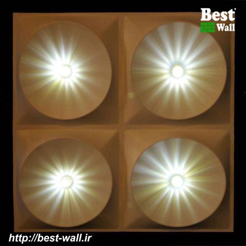 تایل سقفی 60x60 سه بعدی با نورپردازی کریستال