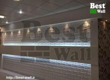 طراحی دیوارپوش سه بعدی حریر تلفیقی با کناف