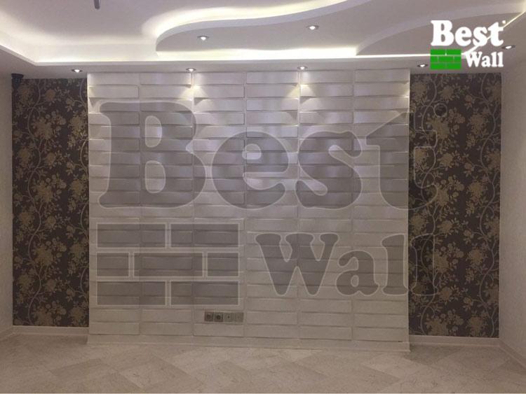 تی وی روم ویژه با استفاده از کاغذ دیواری و دیوار پوش