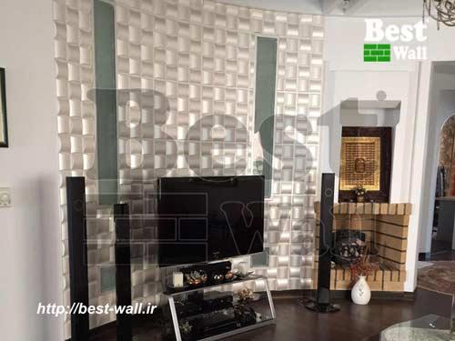 دیوار پشت تلویزیون منحنی