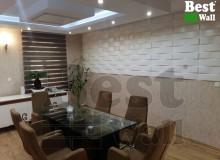 دکور دیوار اتاق کنفرانس در اداره با پانل سه بعدی بست وال