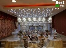 سقف پوش دکوراتیو و نورپردازی شده تالار مفرح بانک صادرات در تهران