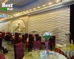 دیوار پوش سه بعدی زیبا مناسب رستوران