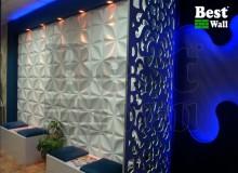 طراحی دیوار و دکوراسیون سالن زیبایی با دیوار پوش سه بعدی بست وال
