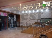طراحی دکوراسیون مرکز خرید با پانل سه بعدی