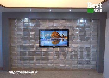 دیوار پوش سه بعدی پشت تلویزیون