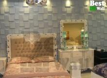دیوار پوش سه بعدی طرح صخره در یافت آباد جهت دکوراسیون گالری مبلمان