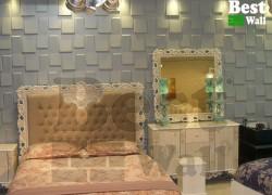 دکوراسیون اتاق خواب با دیوارپوش جدید صخره ای