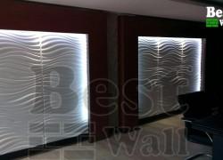 پانل سه بعدی جهت دکوراسیون سالن کنفرانس طرح طوفان