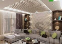 دکوراسیون سقف و دیوار با دیوارپوش سه بعدی و کناف