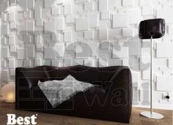 طراحی بسیار جدید دیوار هال و اتاق پذیرایی با دیوارپوش سه بعدی بست وال