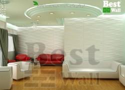 دیوار پوش سه بعدی برای دکوراسیون زیبای سالن پذیرایی
