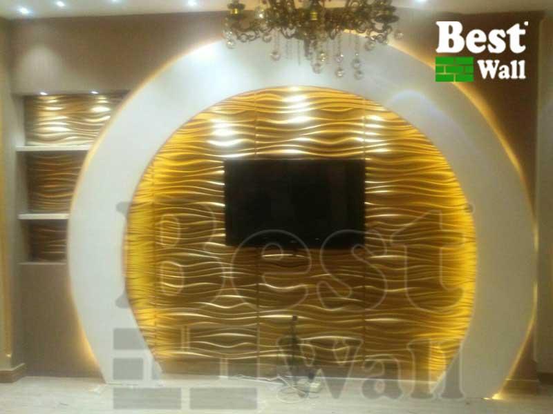 طراحی خاص دیوار پشت ال سی دی