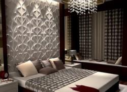 دیوارپوش بسیار زیبا برای دکور اتاق خواب