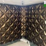دیوار سه بعدی چهار پر در حال اجرا