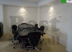 دکور دیوار های شرکت با پنل دیواری طرح آرام