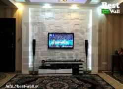 تزیین دیوار پشت تلویزیون ال ای دی