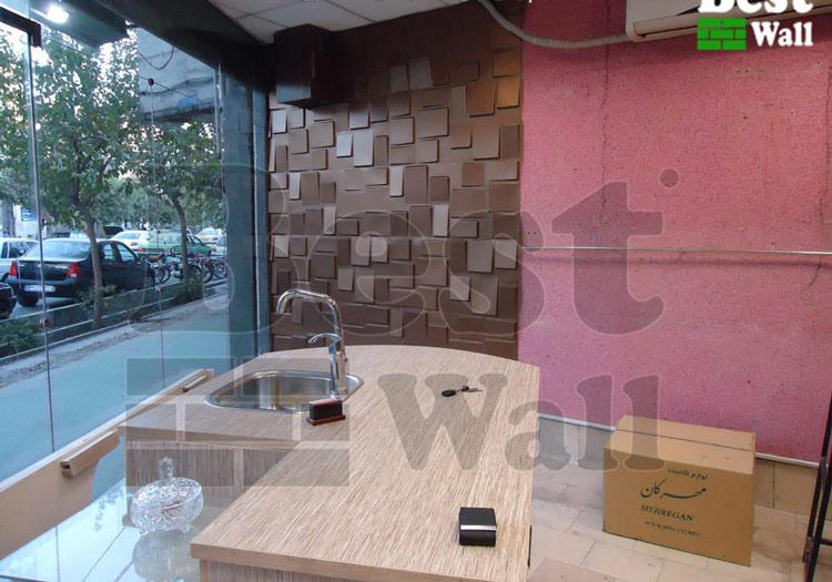 دیوارکوب سه بعدی طرح صخره بست وال