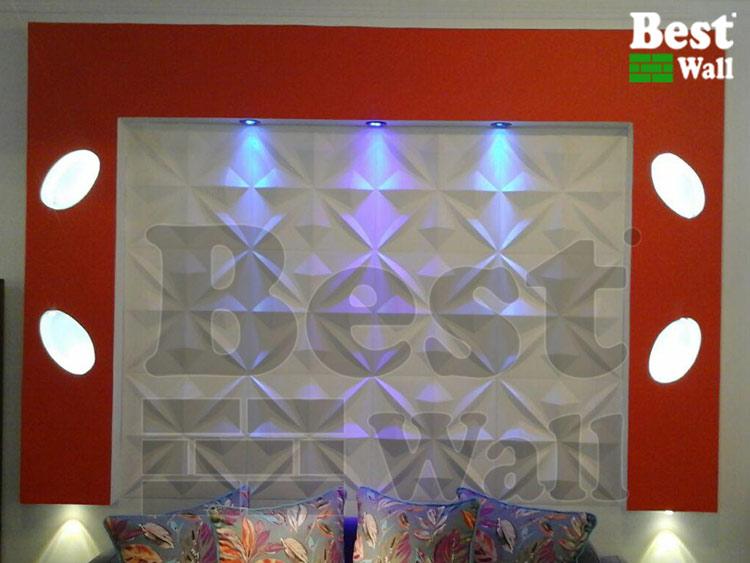 زیباسازی دیوار ها با استفاده تلفیقی از کناف و دیوارپوش