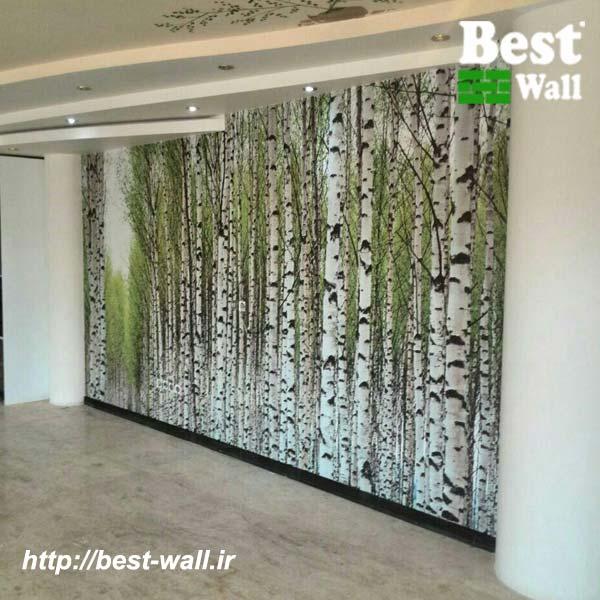 کاغذ دیواری سه بعدی طرح درخت