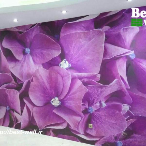 کاغذ دیواری گل بنفشه