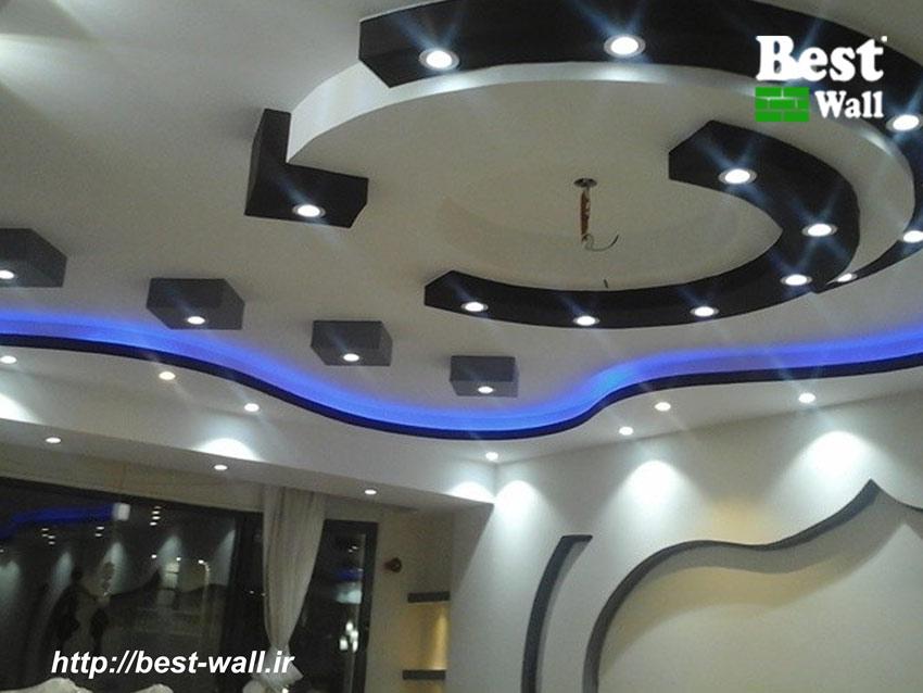 دکور جدید سقف و دیوار با کناف