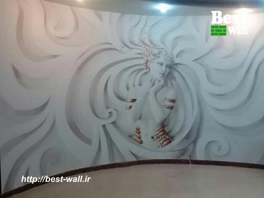 کاغذ دیواری سه بعدی عکس زن