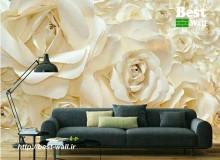 کاغذ دیواری عکس گل رز