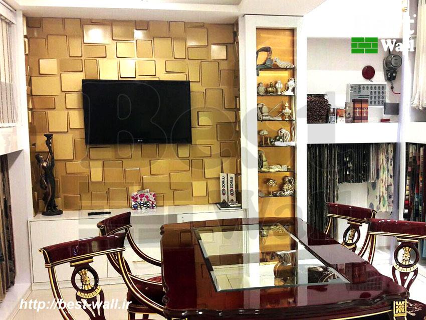 دیوار پوش طلایی