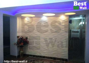 دکور دیوار اتاق نشیمن با پنل دکوراتیو