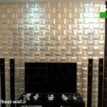 طراحی دیوار پشت تلوزیون با پنل سه بعدی