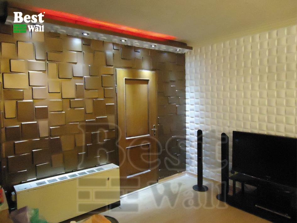 تزیین دیوار با دیوار پوش سه بعدی