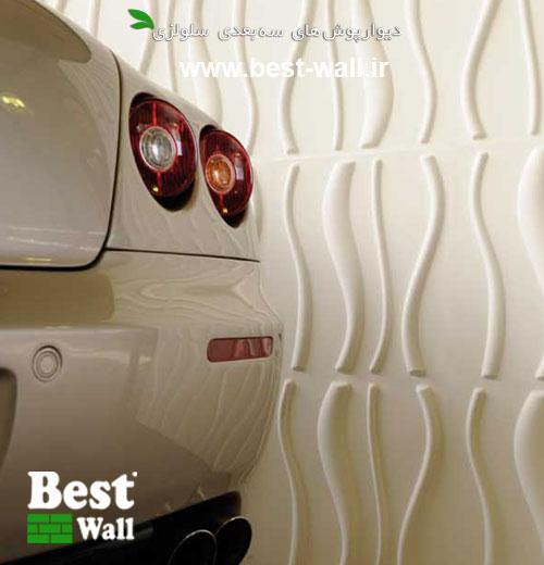 عکس دکور نمایشگاه اتومبیل با طرح آرام