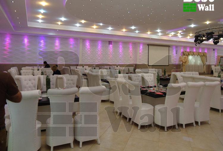 نورپردازی سقف و دیوار تالار پذیرایی و عروسی