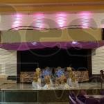 طراحی دکوراسیون دیوار و سقف و فضای داخلی تالار پذیرایی شهر با پنل دکوراتیو