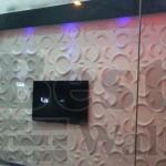 دیوار تی وی با طرح هلال