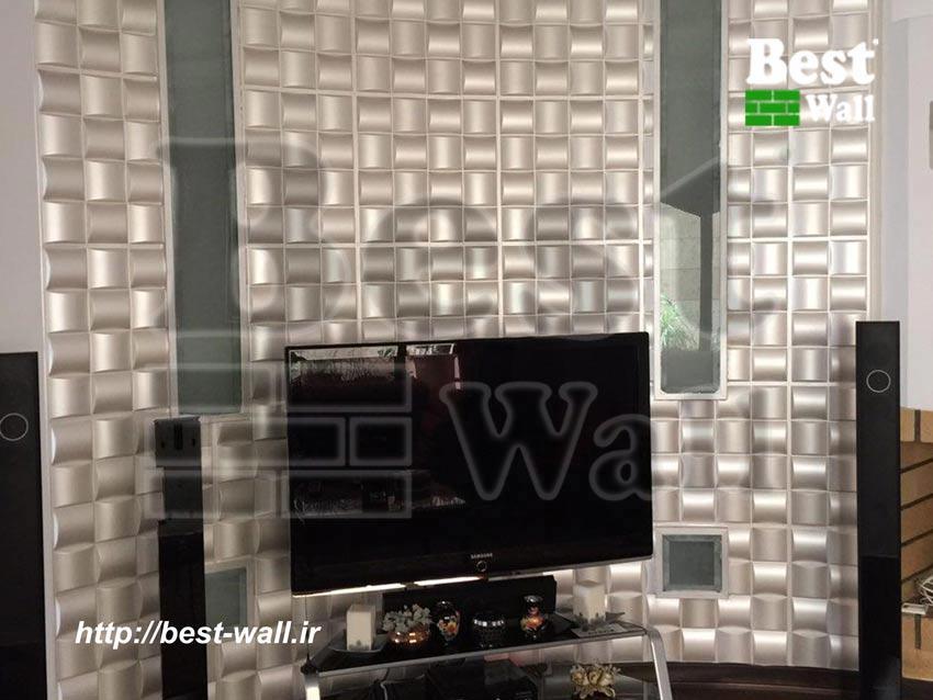 دکور دیوار منحنی پشت تلوزیون