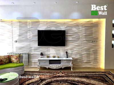دیوار تزینی منزل پشت تلویزیون