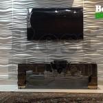 دکور دیوار پشت تلوزیون با دیوار پوش سه بعدی