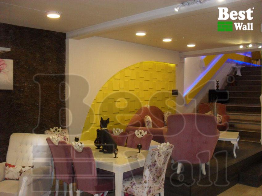 طراحی اتاق نشیمن با دیوارپوش و کناف