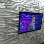 دکور دیوار تلویزیون با کاغذ دیواری جدید