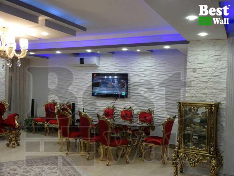 دکور سالن پذیرایی در زنجان
