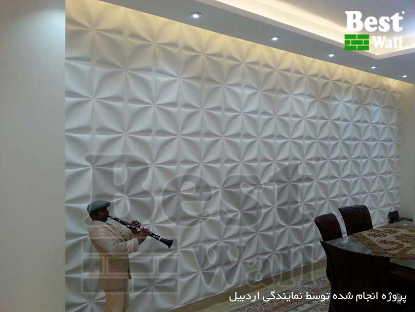 طراحی دکوراسیون دیوار اتاق پذیزایی