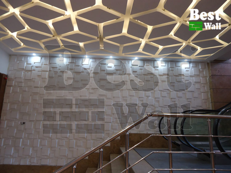 دیوارپوش پنلی سه بعدی مناسب مرکز خرید و پاساژ