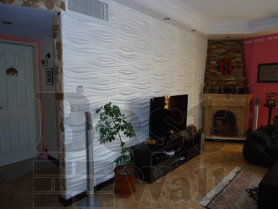 دکور دیوار تلویزیون با دیوارپوش فومی