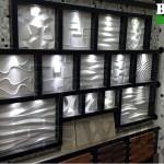 پانل های قاب شده و نورپردازی شده بست وال قاب در نمایشگاه عاملیت ایلام