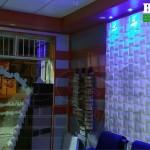 دیوارپوش سه بعدی حریر اجرا شده در فضای اداری و فروشگاه تزینات