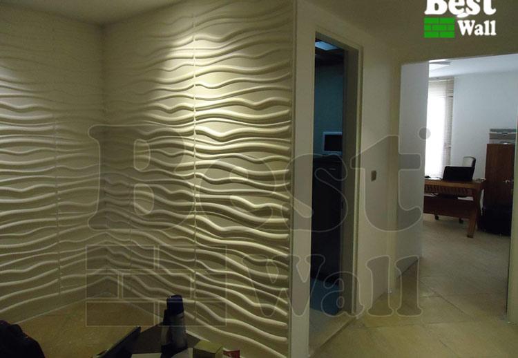 دفتر کار با پانل سه بعدی طرح آرام