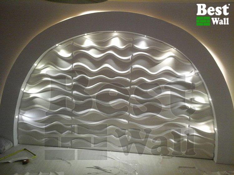 طرح خاص دیوار پذیرایی کناف و دیوارپوش جدید