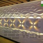دیواری متفاوت با تلفیق پانل دکوراتیو و نورپردازی